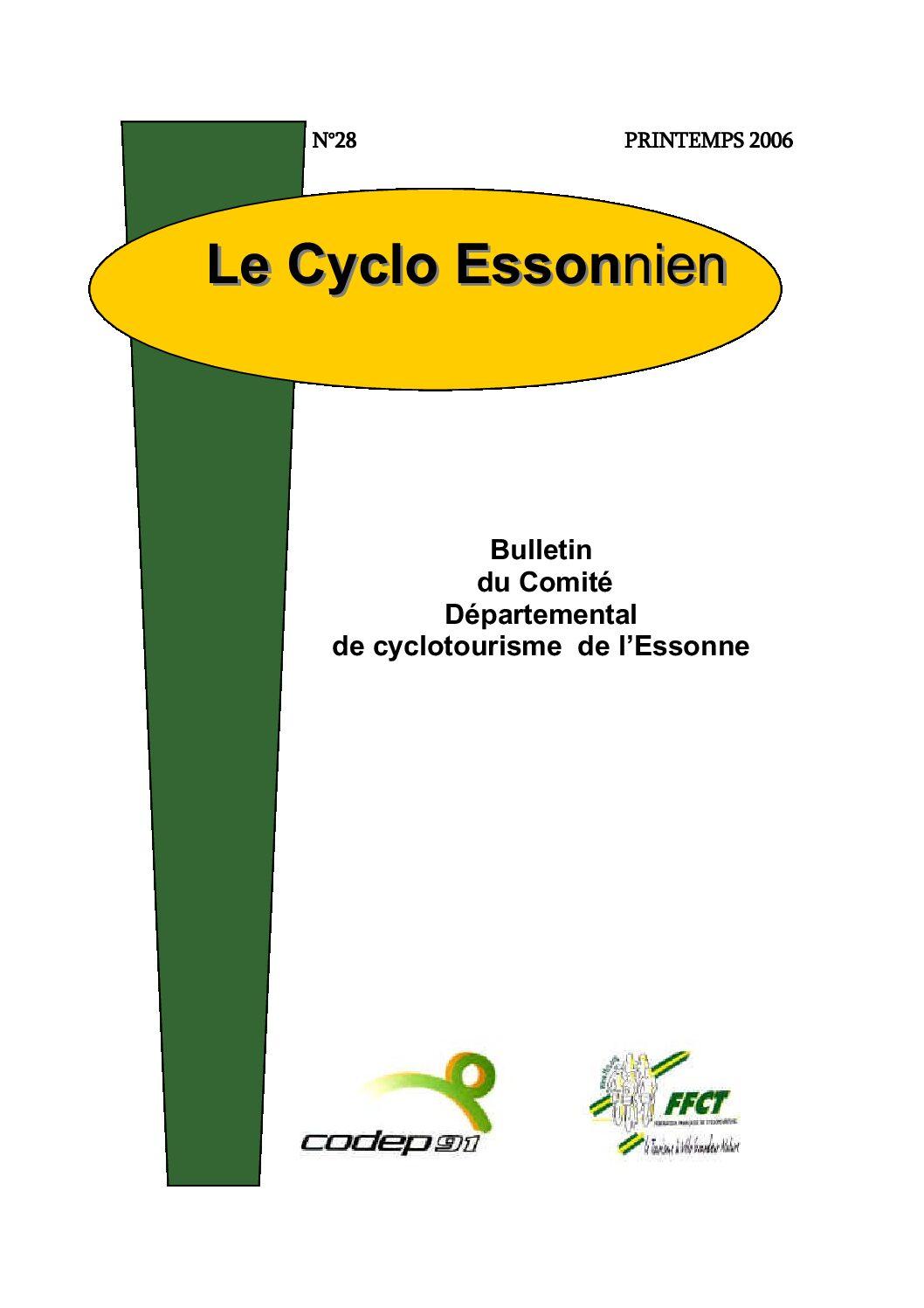 Le Cyclo Essonnien n°28