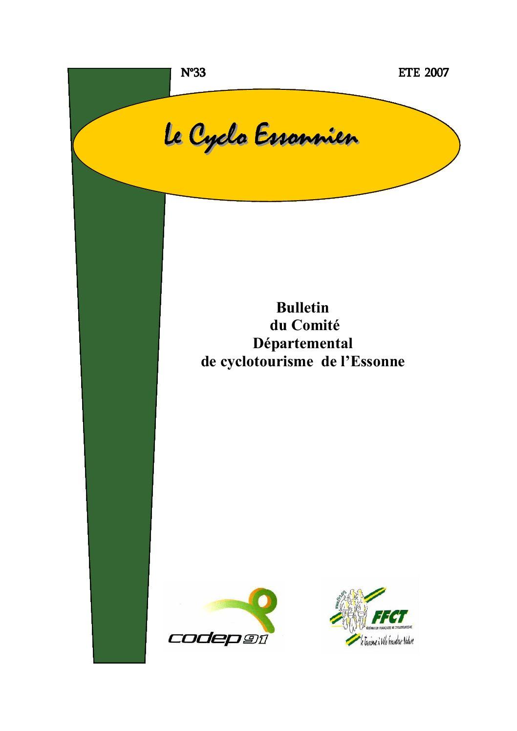 Le Cyclo Essonnien n°33