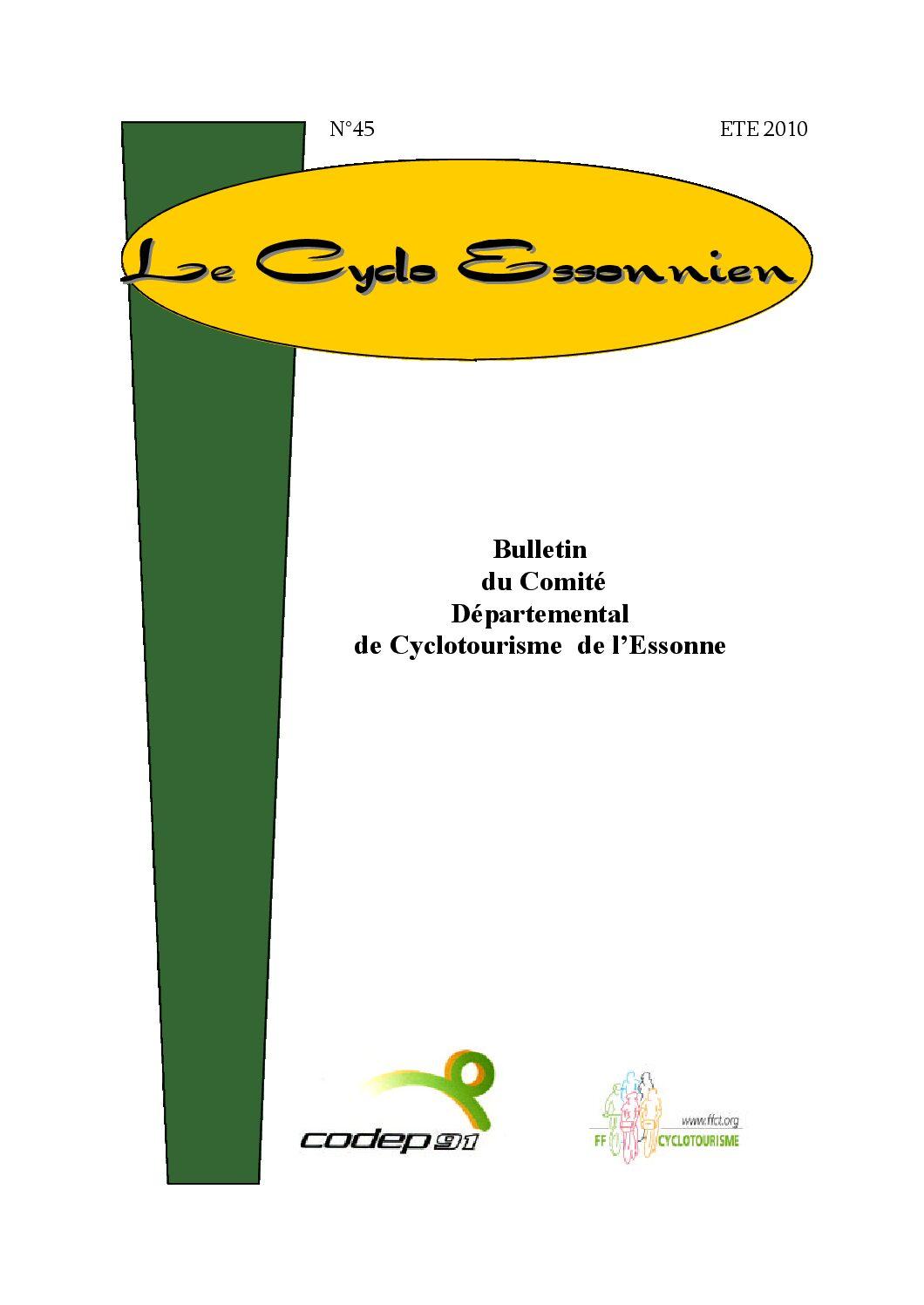 Le Cyclo Essonnien n°45
