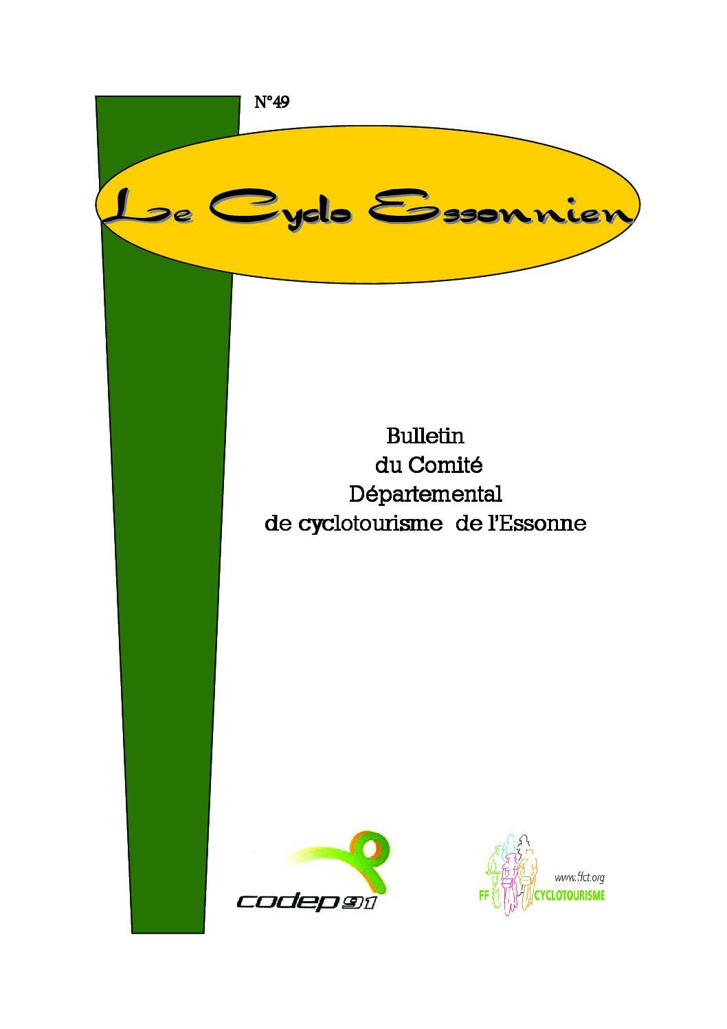 Le Cyclo Essonnien n°49