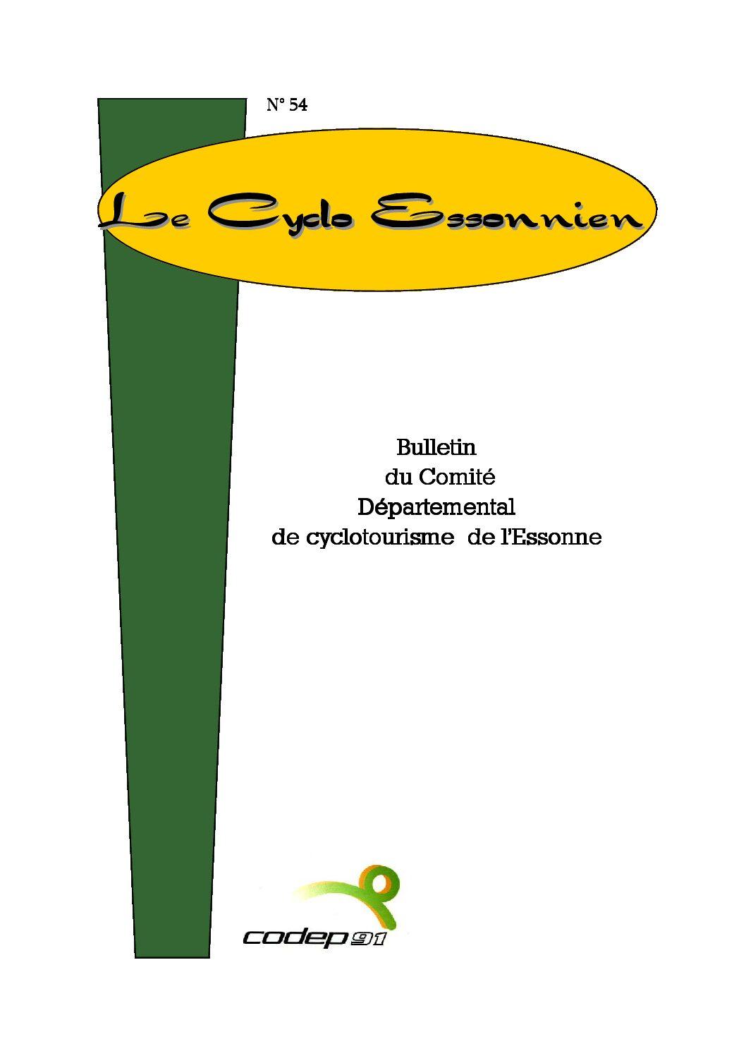 Le Cyclo Essonnien n°54