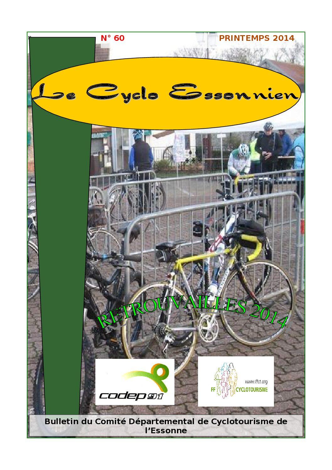 Le Cyclo Essonnien n°60