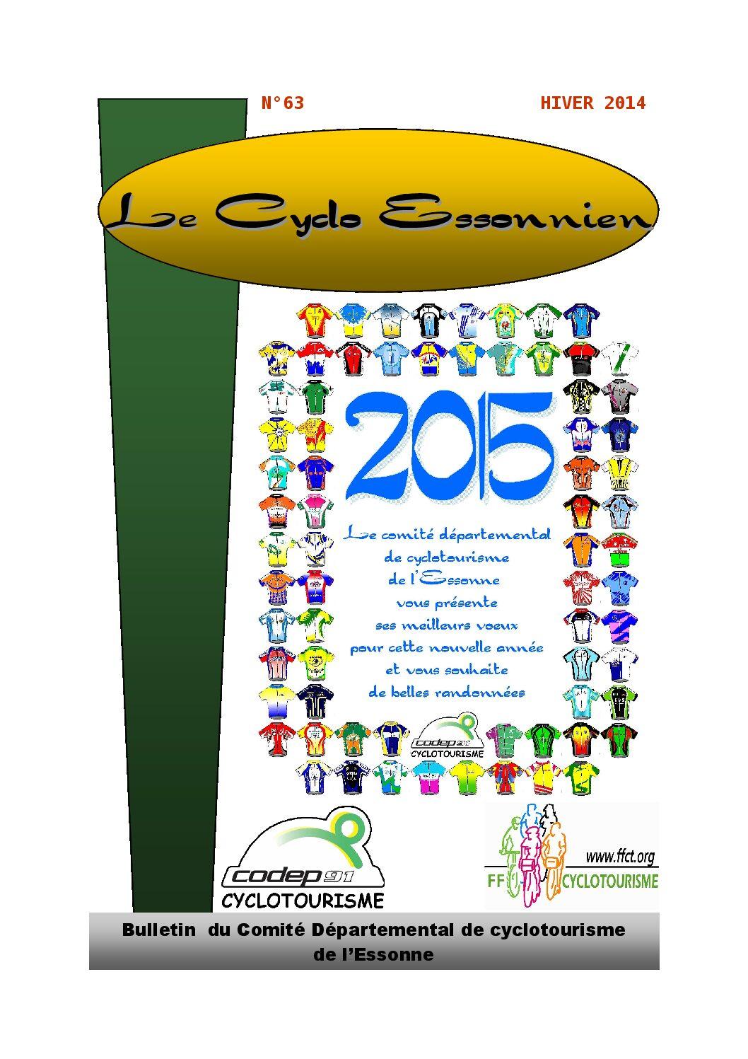 Le Cyclo Essonnien n°63
