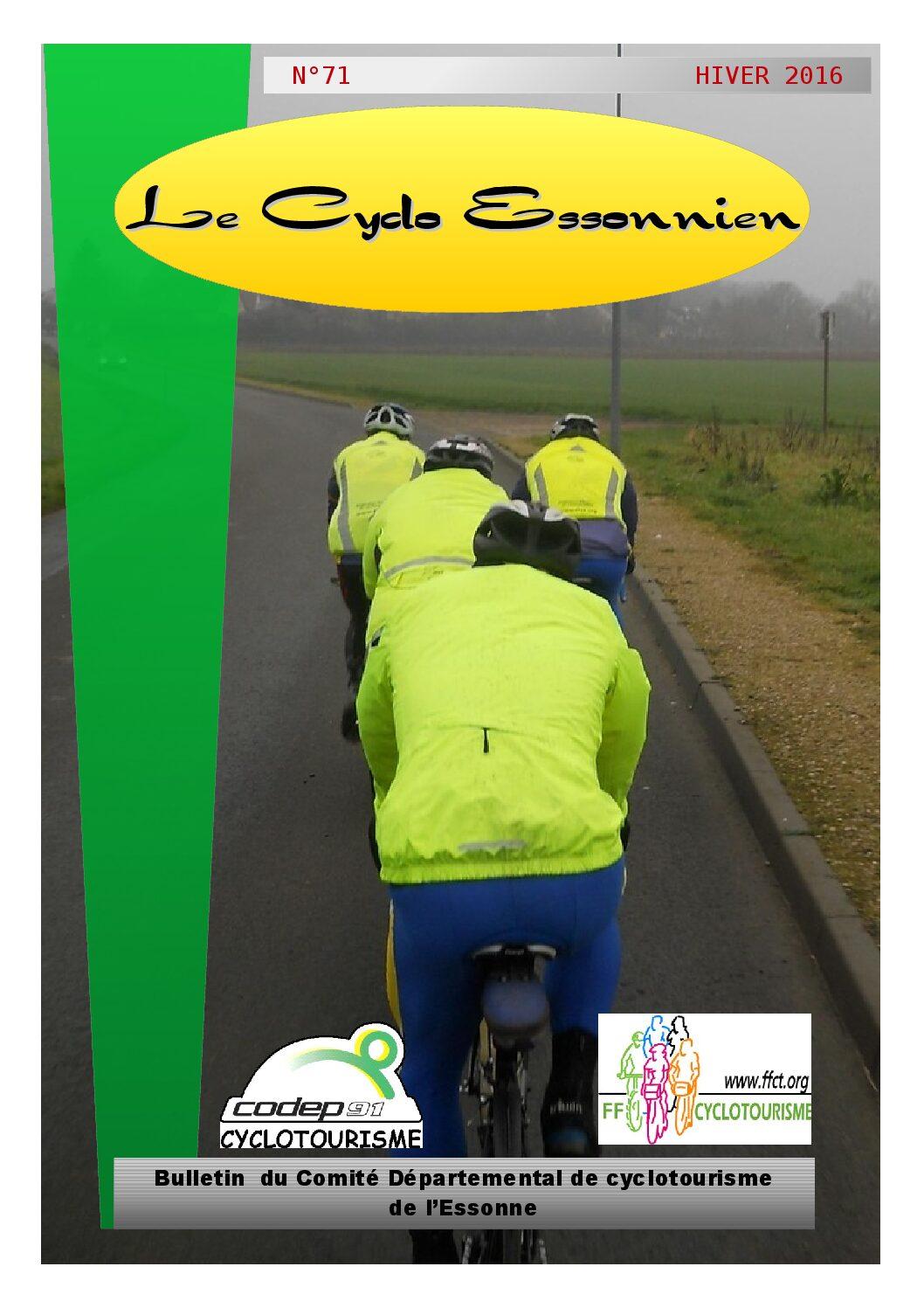 Le Cyclo Essonnien n°71