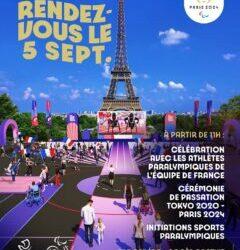 Invitation au live des Jeux dans le parc du Trocadéro.